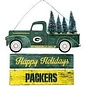 Forever Collectibles Green Bay Packers Wooden Truck with Tree Sign