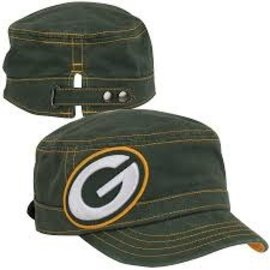 New Era Green Bay Packers Womens Chic Cadet Military Hat