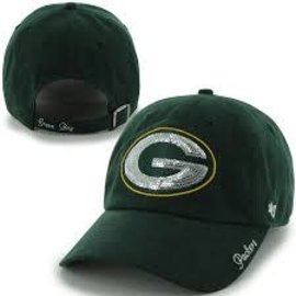 '47 Brand Green Bay Packers Womens Sparkle Team Clean Up Hat