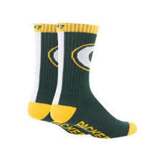 '47 Brand Green Bay Packers Bolt Youth Crew Socks Size Small