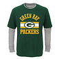 Outerstuff Green Bay Packers Youth Icon Layered Long Sleeve Tee