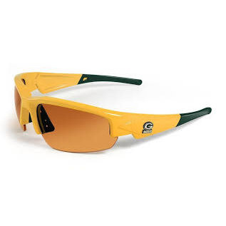 Green Bay Packers Yellow Sunglasses with Green Tip