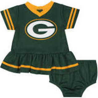 Gerber Childrenswear Green Bay Packers Infant Dazzle Dress and Diaper Cover