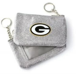 Green Bay Packers Silver Sparkle Coin Purse