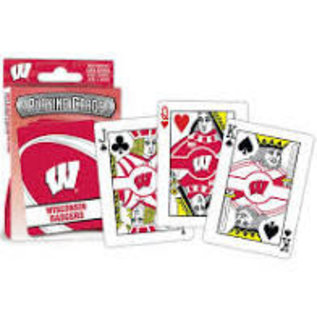 Wisconsin Badgers Playing Cards with W