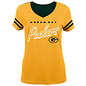 Outerstuff Green Bay Packers Youth Girls Soundwave Short Sleeve Tee