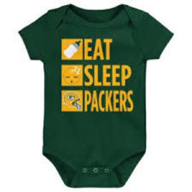 Outerstuff Green Bay Packers Infant Daily Agenda Short Sleeve Onesie