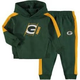 Outerstuff Green Bay Packers Youth FullBack 2 Pc Hoodie & Pant Set
