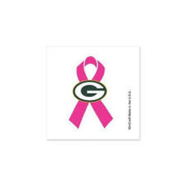 WinCraft, Inc. Green Bay Packers Breast Cancer Tattoos- 4 Pack