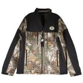 Dunbrooke Green Bay Packers Men's Black & Camo Poly Jacket