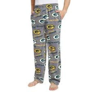 College Concepts LLC Green Bay Packers Men's Gray All Over Print Microfleece Pants