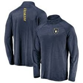 Fanatics Milwaukee Brewers Men's Contenders Welcome 1/4 Zip