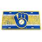 WinCraft, Inc. Milwaukee Brewers Vintage License Plate