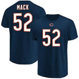 Chicago Bears Men's Mack Name and Number Short Sleeve Tee
