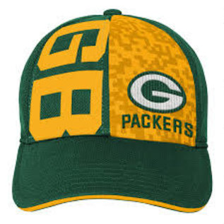 Outerstuff Green Bay Packers Youth Fan Tech Splitscreen Flex Adjustable Hat