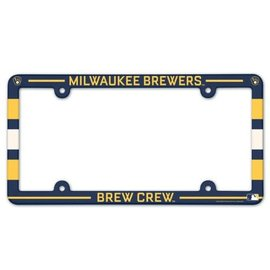 WinCraft, Inc. Milwaukee Brewers Full Color Plastic License Plate Frame with Slogan