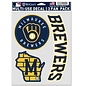 WinCraft, Inc. Milwaukee Brewers Multi Use Decal 3 Fan Pack