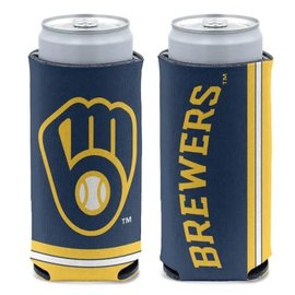 Milwaukee Brewers Slim Can Cooler