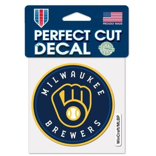 Milwaukee Brewers 4x4 Perfect Cut Decal - Circle Logo