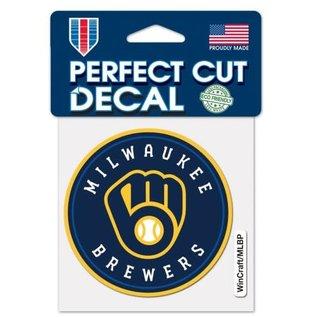 WinCraft, Inc. Milwaukee Brewers 4x4 Perfect Cut Decal - Circle Logo