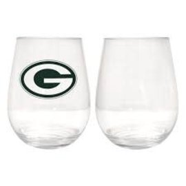Boelter Brands LLC Green Bay Packers 16 OZ Plastic Stemless Wine Glass