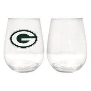 Boelter Brands LLC Green Bay Packers 16 OZ Plastic Stemless Wine Glass