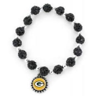 Aminco Green Bay Packers Pebble Bead Stretch Bracelet