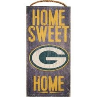 Fan Creations Green Bay Packers Small Wood Home Sweet Home Sign