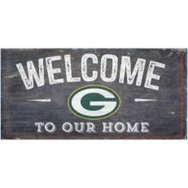 Fan Creations Green Bay Packers Small Wood Welcome to Our Home Sign