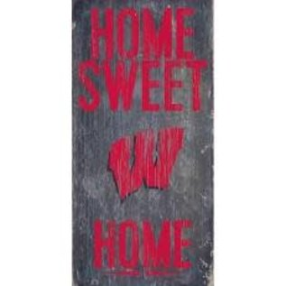 Fan Creations Wisconsin Badgers Wood Sign-Home Sweet Home