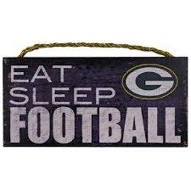 Fan Creations Green Bay Packers Small Wood Eat, Sleep, Football Sign