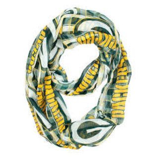 Little Earth Green Bay Packers Plaid Infinity Scarf