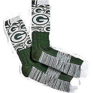 For Bare Feet Green Bay Packers The Show Tall Sock Size Large