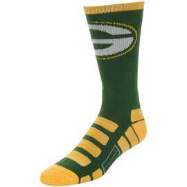 For Bare Feet Green Bay Packers Patches Tall Sock Size Large