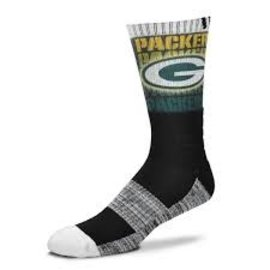 For Bare Feet Green Bay Packers Gradient Socks Size Large