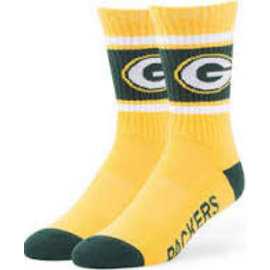 '47 Brand Green Bay Packers Duster Tall Yellow Sock Size Large
