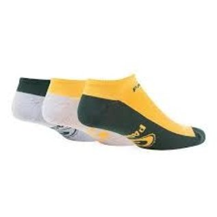 '47 Brand Green Bay Packers Gait 3 Pack No Show Socks Size Large