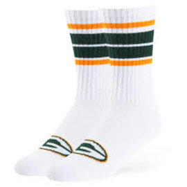 '47 Brand Green Bay Packers Sigma Crew Socks Size Large