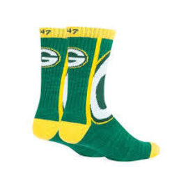 '47 Brand Green Bay Packers Hot Box Tall Socks Size Large