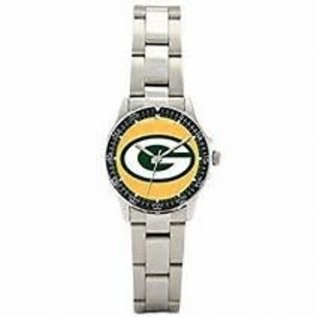 Green Bay Packers Womens Silver Band Watch