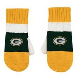 Outerstuff Green Bay Packers Youth Fleece Lined Jacquard Mittens