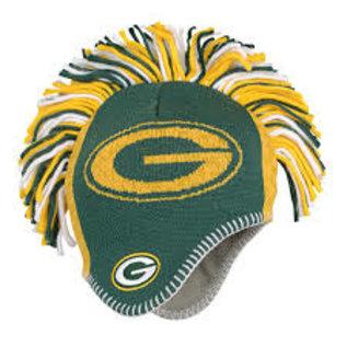 Outerstuff Green Bay Packers Youth Fleece Lined Mohawk Knit Hat