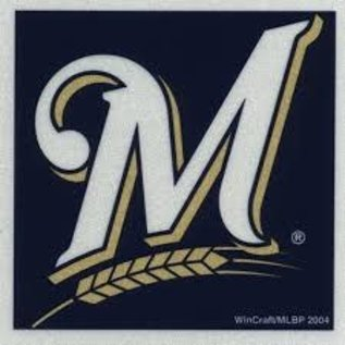 WinCraft, Inc. Milwaukee Brewers 3x3 Square Reflective Decal