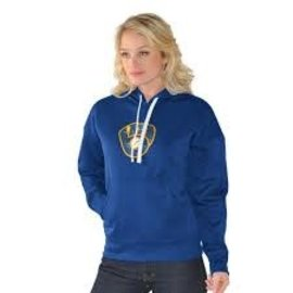 G III Milwaukee Brewers Women's Sequined Hoodie