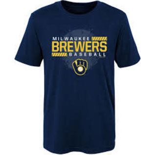 Milwaukee Brewers Youth Knuckle Ball Short Sleeve Tee