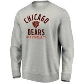 Fanatics Chicago Bears Men's Team Arc Stacked Crewneck Fleece