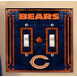 Chicago Bears Art Glass Double Light Switch Cover