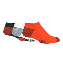 Chicago Bears Blade No Show 3 Pack Socks Size Medium