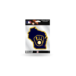 Rico Industries, Inc. Milwaukee Brewers Home State Decal