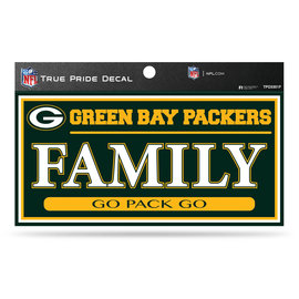 """Green Bay Packers 3""""x6"""" True Pride Decal - Family"""